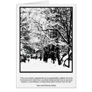Companion Solitude - Thoreau Card