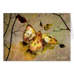 companionship  ( three pears) greeting card