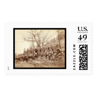 Company C 3rd US Infantry on Hillside SD 1890 Postage Stamps