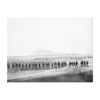 Company C, 3rd US Infantry Walking in a Line Canvas Print