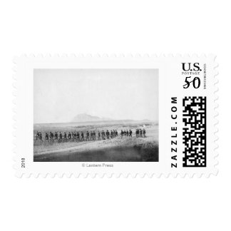 Company C, 3rd US Infantry Walking in a Line Postage