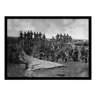 Company C Troops at Bull Run 1862 Posters