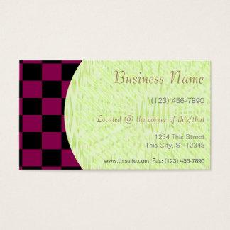 Company Card I/ U-pick Color Black Checkered Tiles