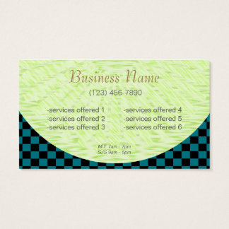 Company Card II/ U-pick Color Black Checkered Tile