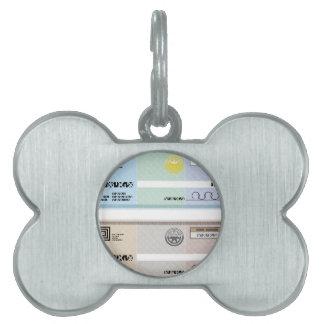 Company Check Gift Voucher Bonus Check Pet Tag
