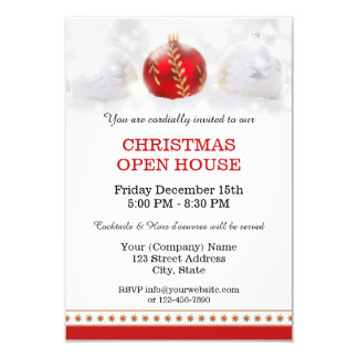 Company Christmas Open House Party Invitation