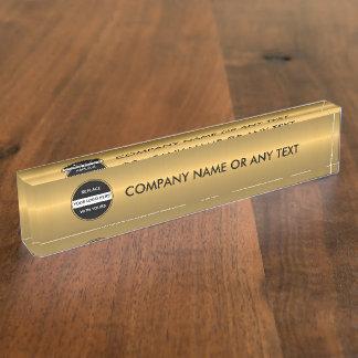 Company Desk Nameplate Tempate