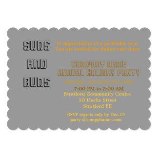 """Company holiday party Invitation. 5"""" X 7"""" Invitation Card"""