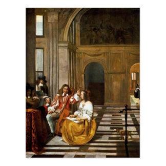 Company Making Music by Pieter de Hooch Postcard