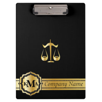 Company Monogram Style | Law | Lawyers | DIY Text Clipboard