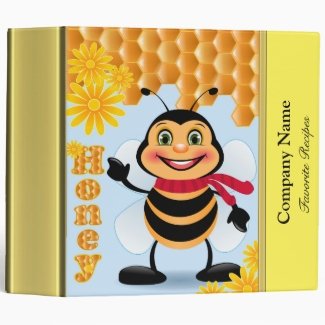 Company Name honey bee recipe cookbook with gold