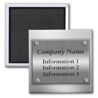 Company Name Metal Frame Magnet