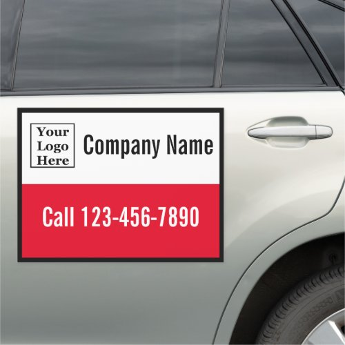 Company Name Phone and Your Logo Here Car Magnet