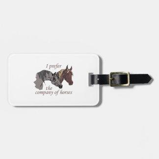 COMPANY OF HORSES BAG TAG