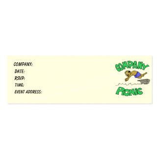 Company Picnic Admission Ticket Double-Sided Mini Business Cards (Pack Of 20)