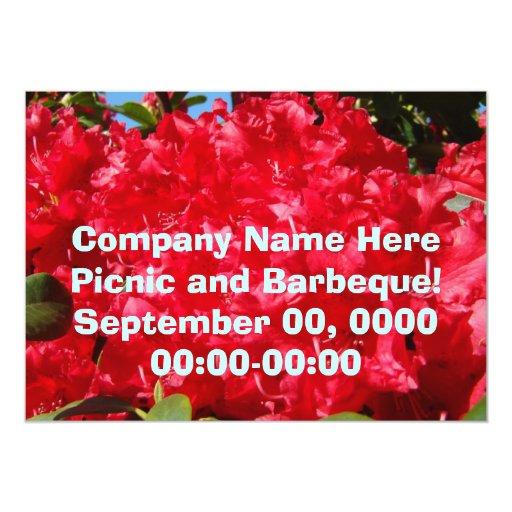 Company Picnic Corporate Barbeque Invitations