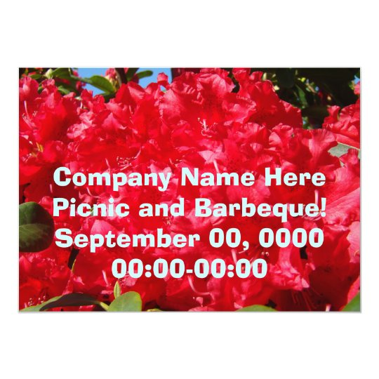 Company Picnic Corporate Barbeque Invitations