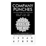 company punch card business cards