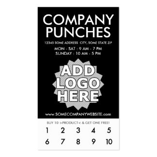 company punch card Double-Sided standard business cards (Pack of 100)