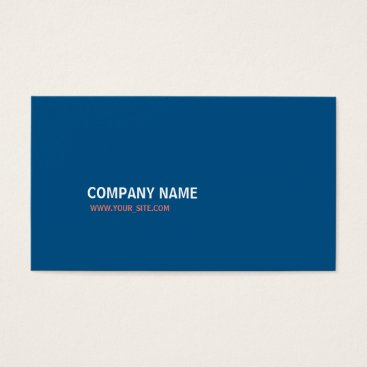Lawyer Themed Company  Snorkel Blue and Peach Echo Business Card