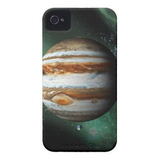 Comparación de Júpiter y de la tierra Carcasa Para iPhone 4