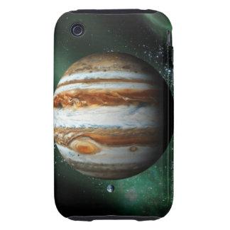 Comparación de Júpiter y de la tierra Funda Resistente Para iPhone 3