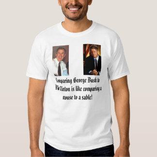 Comparar a George Bush a Bill Clinton es como c… Camisas