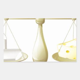Comparar escalas de la tiza y del queso rectangular altavoz