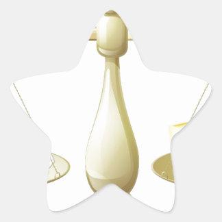 Comparar escalas de la tiza y del queso calcomanía forma de estrella personalizadas