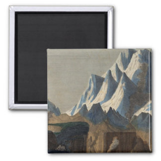 Comparative Height of the Principal Mountains 2 Inch Square Magnet