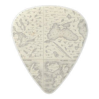Comparative Size of Lakes and Islands Acetal Guitar Pick