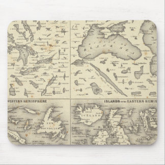 Comparative Size of Lakes and Islands Mouse Pad
