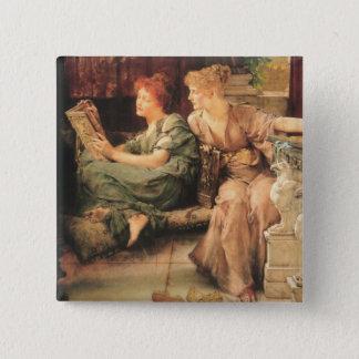 Comparisons by Lawrence Alma-Tadema Pinback Button