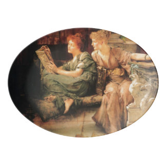 Comparisons by Lawrence Alma-Tadema Porcelain Serving Platter