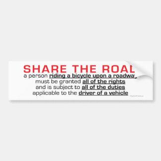 COMPARTA a la pegatina para el parachoques del CAM Etiqueta De Parachoque