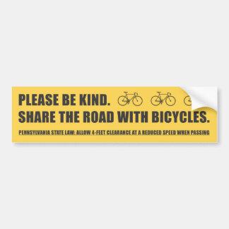 Comparta al pegatina de la seguridad de la bicicle pegatina para auto