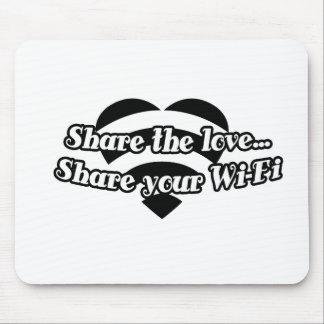 Comparta el amor comparta su Wi-Fi Alfombrillas De Raton