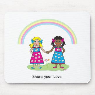 Comparta el amor - igualdad para todos alfombrillas de ratón