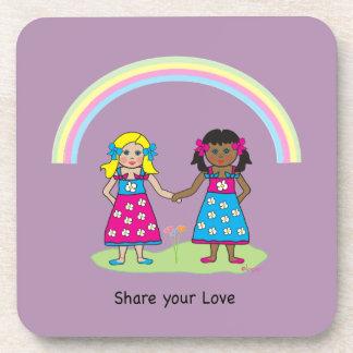 Comparta el amor - igualdad para todos posavaso