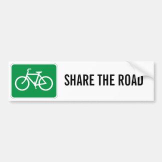 Comparta el camino con las bicicletas pegatina para auto