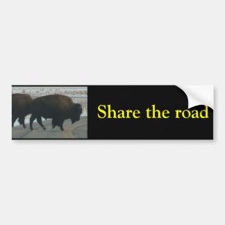 Comparta el camino pegatina para auto