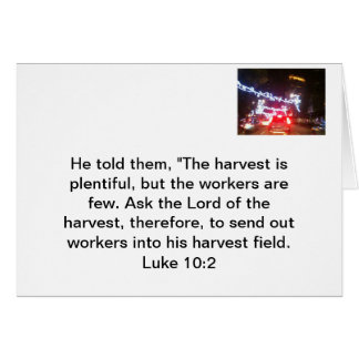 Comparta el evangelio tarjeta pequeña