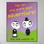 ¡Comparta la aventura! Posters