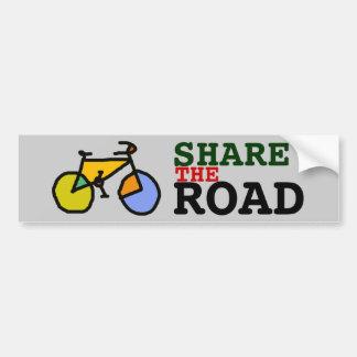 comparta la bici del ~ del camino etiqueta de parachoque