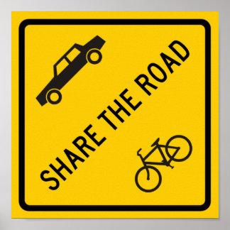 Comparta la muestra de la carretera del camino póster