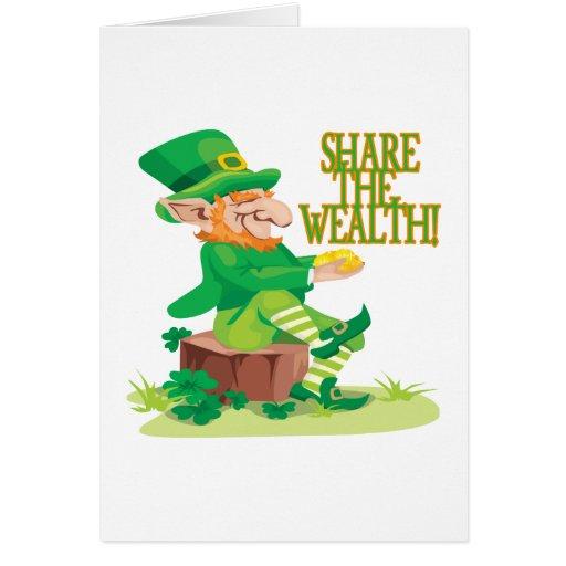 Comparta la riqueza tarjeta de felicitación
