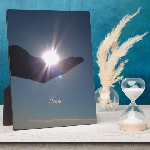 ¡Comparta la sol, la esperanza y la inspiración! Placa De Madera