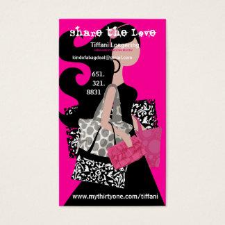 Comparta la tarjeta de la remisión del amor tarjetas de visita