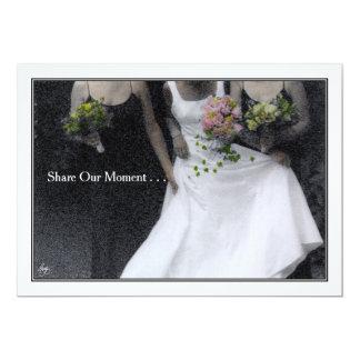 Comparta nuestro momento - invitación del boda
