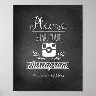 Comparta por favor su Instagram 8x10 Póster